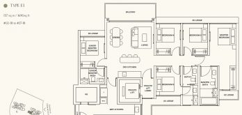 clavon-clementi-condo-5-bedroom-floor-plan-type-e1-singapore